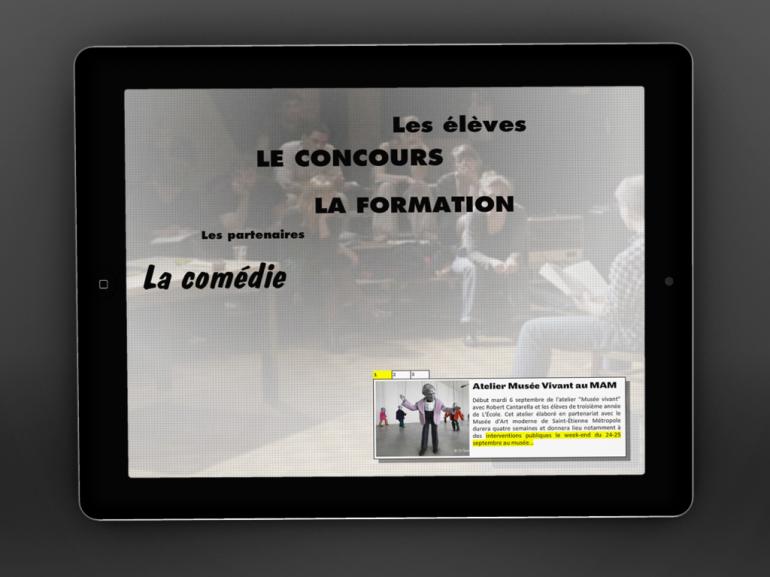 Site Web École de la Comédie