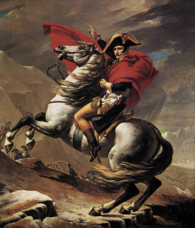 Bonaparte franchissant le Grand-Saint-Bernard,  Jacques-Louis David (1800 - 1803)