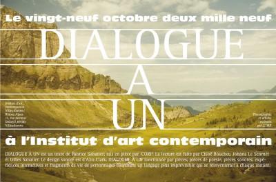 Dialogue à un